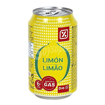 DIA Limón con gas Lata 33 cl