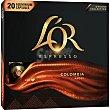 Café Colombia estuche 20 cápsulas compatibles con máquinas Nespresso estuche 20 cápsulas L'OR Espresso