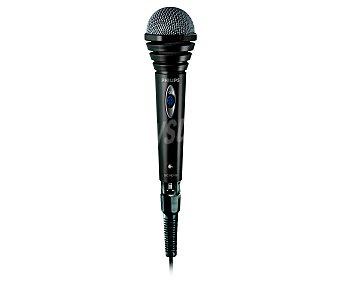 PHILIPS SBC MD110 Micrófono Omnidireccional especial para Karaoke, conector de 3,5mm 6,3mm, y 1,5 metros de cable