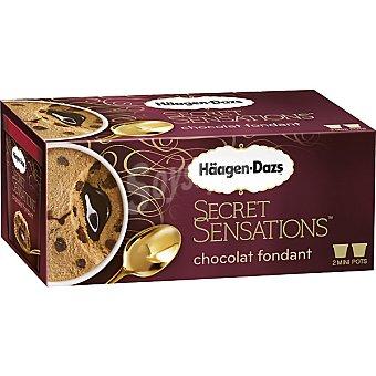 Häagen-Dazs Helado de chocolate con chocolate fundido  2 unidades de 100 ml