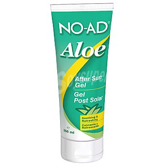 NO-AD After sun gel Aloe para despues del sol calmante y refrescante  tubo 250 ml