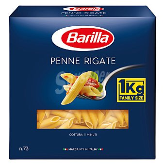 Barilla Macarrones penne rigate caja 1 kg