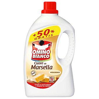 Omino Bianco Detergente máquina líquido al jabón de Marsella botella 27 dosis + 13 gratis Botella 27 dosis + 13 gratis