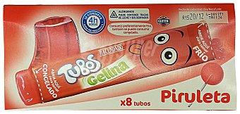 Hacendado Gelatina tubos sabor piruleta (consumir refrigerada o congelada) Caja 8 u
