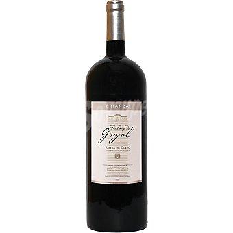 PALACIO DE GRAJAL Vino tinto crianza D.O. Ribera del Duero elaborado para grupo El Corte Ingles magnum 15 l 15 l