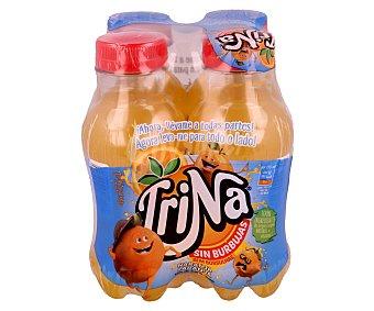 Trina Refresco de naranja Pack de 4 botellas de 27,5 centilitros