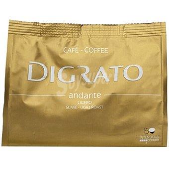 Digrato Cápsulas Café Suave 100% Arábiga Intensidad 4 - Andante 15 c - Bolsa 90 g