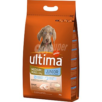 ULTIMA Junior Rico en pollo y arroz para perro bolsa 3 kg Bolsa 3 kg