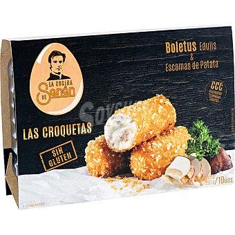La cocina de Senén croquetas de boletus edulis y escamas de patata sin gluten bandeja 250 g 10 unidades