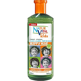 NATUR VITAL Kids champú infantil Happy Hair melocotón  frasco 500 ml