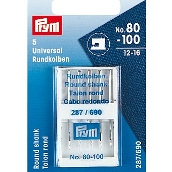 PRYM 287/690 estuche 5 agujas para máquina de coser de los nº 12 al 16