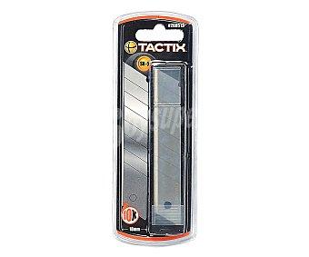 TACTIX Lote de 10 Cuchillas de Recambio para Cutter de 18 Milímetros 1 Unidad