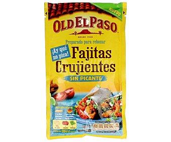 Old El Paso Rebozado fajitas crujientes sin picante 85 g