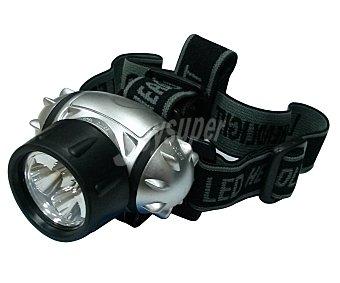 GARDEN STAR Lámpara led frontal, con cinta de sujección a la cabeza, ideal para la práctica del trecking 1 unidad