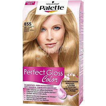 Palette Schwarzkopf Tinte Perfect Gloss Color nº 855 rubio claro soleado con acondicionador de jojoba caja 1 unidad sin amoniaco Caja 1 unidad