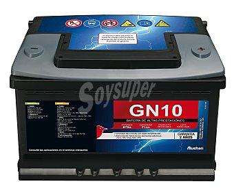 Genium Batería de automóvil de 12v y 71 Ah, GN10, con potencia de arranque de 670 Amperios con potencia de arranque de 670 Amperios