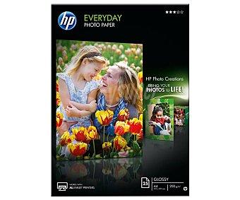 Brillante Pack de 20 hojas fotográficas HP Everyday Glossy Q5451A, , 21 x 29,7cm, 200g/m² 200 g