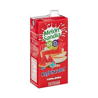 Hacendado Fruta + leche melón sandía Brick 1 l