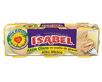 Isabel Atún claro en aceite alto oleico 3 latas de 146 g