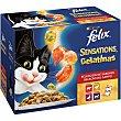 Sensations alimento húmedo para gatos con una selección de carnes en gelatinas Pack 12 bolsa 100 g Purina Felix