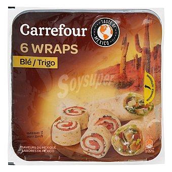 Carrefour Tortillas de trigo Pack de 3 unidades de 62 g