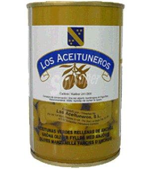 Los Aceituneros Aceituna verde rellena de anchoa Pack de 6x21 g