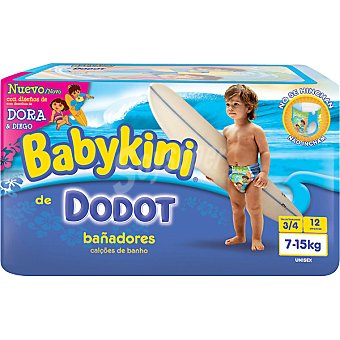 DODOT BABYKINI Pañal bañador desechable 7 a 15 kg talla 3/4  Unidades
