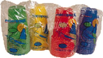 MACOPACK Vasos color plast. 1 paq 220cc10u