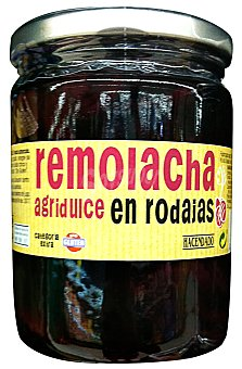Hacendado Remolacha agridulce rodajas conserva Tarro 450 g escurrido