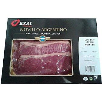 EXAL Lomo bajo de novillo argentino Envase 250 g peso aprox. (2 unidades)