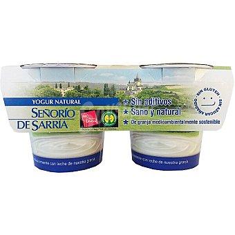 Señorio de Sarria Yogur natural sin aditivos pack 2 unidades 125 g