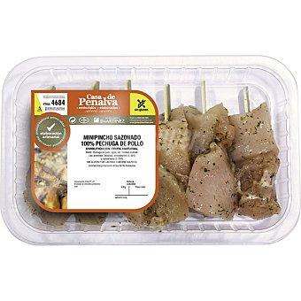 CASA PENALVA Mini pincho sazonado de pollo bandeja 400 g peso aproximado Bandeja 400 g