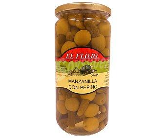 EL FLOJO Aceitunas manzanilla con pepino Tarro de 350 Gramos