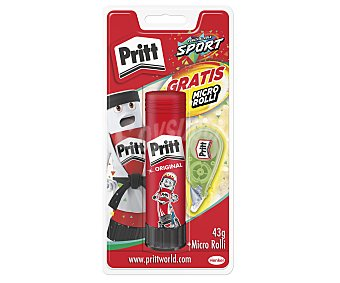 Pritt Barra adhesiva de + cinta correctora con mini aplicador micro rolling pritt 40 g