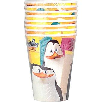 NV CORPORACION vaso decorado Los Pingüinos de Madagascar paquete 8 unidades 20 cl