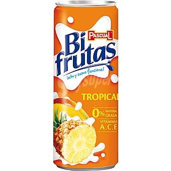 Bifrutas de Pascual Zumo de fruta tropical con leche y vitaminas A,C,E 0% materia grasa  lata 250 ml