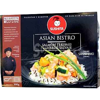 SUSHITA Salmón teriyaki con arroz salvaje Envase 300 g