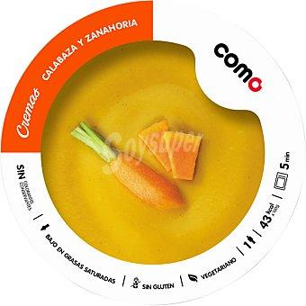 COMO NATURAL crema de calabaza y zanahoria 1 ración  bandeja 300 g