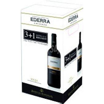 Ederra Vino Tinto Crianza Rioja Pack 4x75 cl