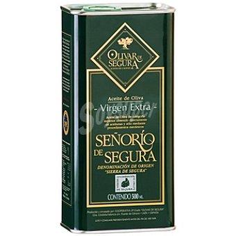 SEÑORIO DE SEGURA aceite de oliva virgen extra D.O. Sierra de Segura  lata 500 ml
