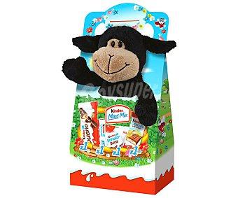 Kinder Surtido de chocolatinas mix + peluche de Navidad Paquete 133 g