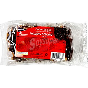 Hipercor Gofres belgas con cobertura de chocolate 5 unidades (300 g)
