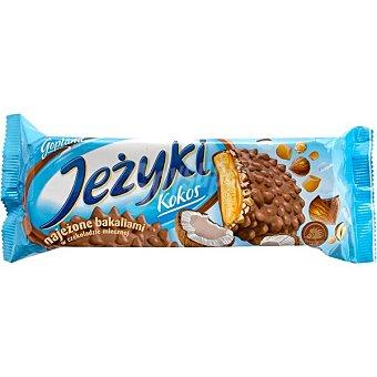 GOPLANA Jesuki Kokos galletas con caramelo rellenas crema de avellanas y coco Caja 140 g