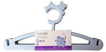 Hippos Percha infantil azul Paquete 4 u