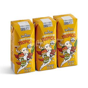 DIA Bebida de frutas con leche tropical zumosfera Pack 3 unidades 330 ml
