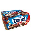 Natillas de chocolate con bolas de 3 chocolates pack 4x117 g Danet Danone