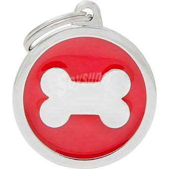 My family Placa identificativa para collares de perros esmaltada en material analergico 1 unidad 1 unidad