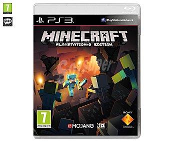 ESTRATEGIA Videojuego Minecraft para PS3. Género: estrategia, aventura, gestíon. Recomendación por edad pegi: +7