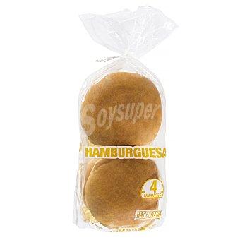 Hacendado Pan hamburguesa sin sesamo 4 unidades, 220 g