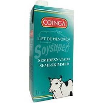 Coinga Leche Semidesnatada Brik 1 litro